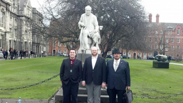 Brian Farnham, Professor Marcus Paroske, and Michael Wilson