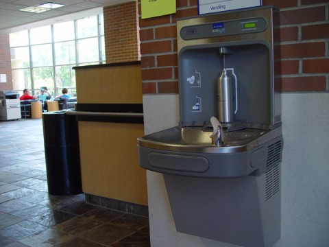 New water fountain in William S. White Building