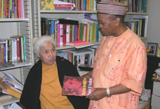 Dr. El Saadawi with Ernest Emenyonu, Ph.D., UM-Flint professor of Africana Studies, in 2008