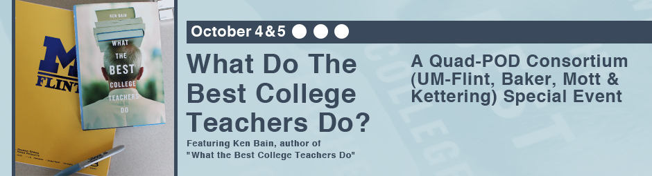 What Do the Best College Teachers Do? Event featuring author Ken Bain