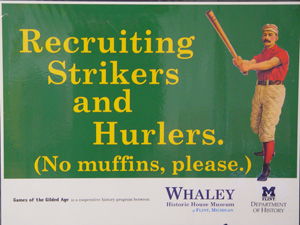 Recruiting Strikers and Hurlers. (No muffins, please.)