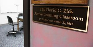 Zick Classroom Dedication
