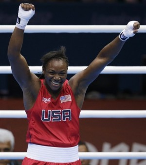 Claressa Shields Celebrates USA's First Gold Medal in Olympic Women's Boxing