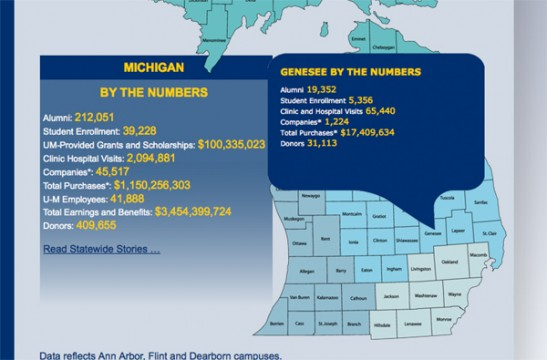 Michigan Impact's interactive map