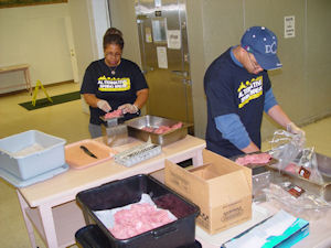 Students at North End Soup Kitchen