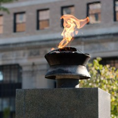 Eternal Flame in Flint's Veterans Park
