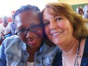 Khwezi Nxumalo and Danna Fuller at the Ilanga School
