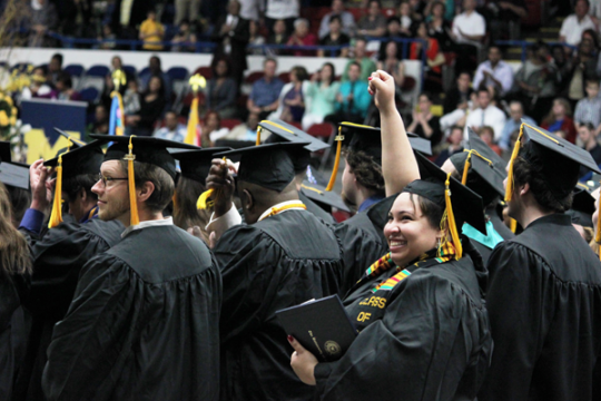 UM-Flint graduates celebrate at commencement
