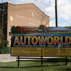 "Sign announces plan to transform Flint's IMA Auditorium location into ""AutoWorld"""