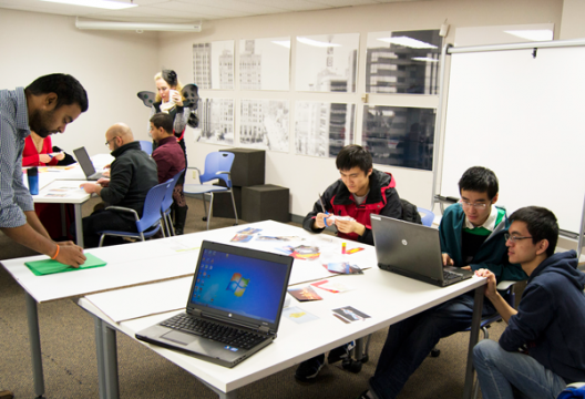 Students and community members collaborate in University Outreach's Innovation Incubator [IN]