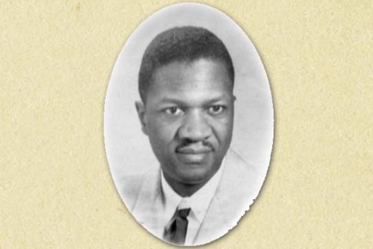 UM-Flint's first African-American graduate, J. Parker Laurence.