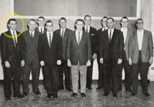 William E. Connolly and UM-Flint's intramural basketball club, 1960