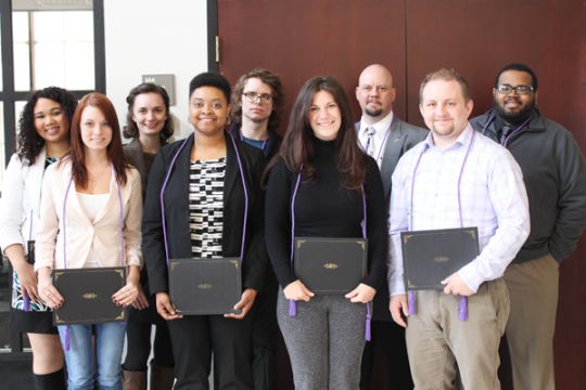UM-Flint's Ellen Bommarito LGBT Center honored students at its first Lavender Graduation ceremony.