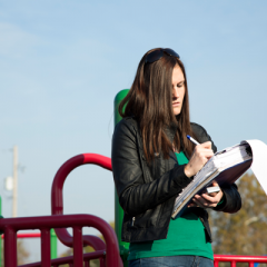 Tina Sabo helped conduct research on playground accessibility.
