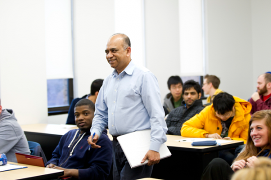Director of UM-Flint's Mechanical Engineering program, Quamrul Mazumder, Ph.D.