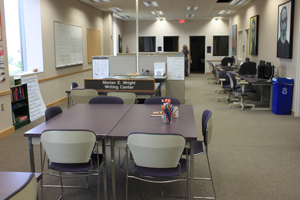 The Marian E. Wright Writing Center is now on the third floor of the Thompson Library.