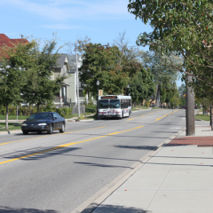 University Avenue runs between Kettering University and UM-Flint.