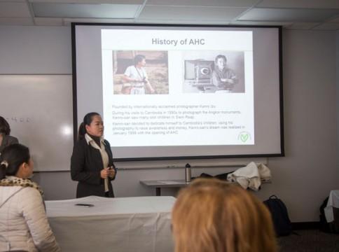 Presentation about health care in Cambodia