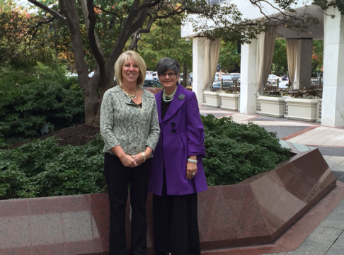 Lori Vedder and Mary Jo Sekelsky in Washington D.C.