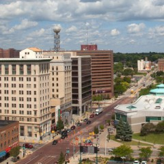 Downtown Flint, looking north from the Mott Foundation Building