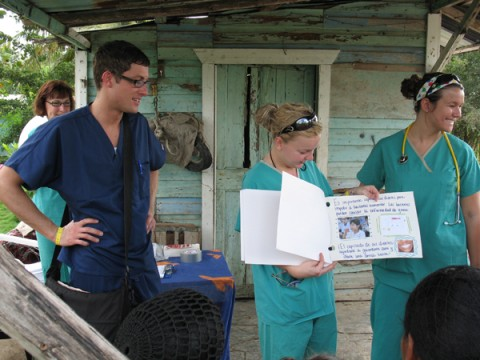 UM-Flint nursing students in the Dominican Republic.