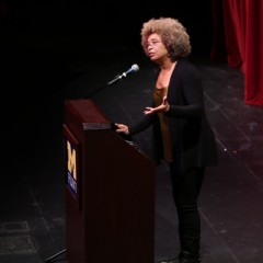 Angela Davis gives public lecture at UM-Flint Theatre