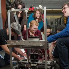 Genesee Early College's TESLA robotics team