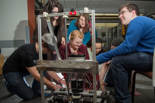 Genesee Early College's TESLA robotics team