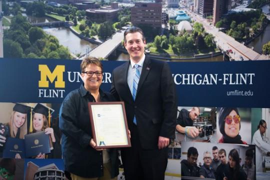 "Flint mayoral proclamation declares April 17, 2015 ""Chancellor Susan E. Borrego Day"""