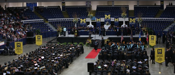 Morning commencement ceremony at Perani Arena and Events Center