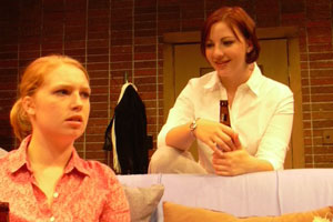 Erin Darke (right) in Stop Kiss, a UM-Flint student-directed production from 2004.