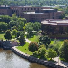 Arial photo of UM-Flint campus.
