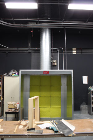 A new dust collection system and paint spray booth were installed in the 3D Art Studio.