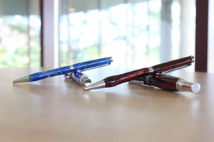 Hooper sells matching sets of pens and mechanical pencils.