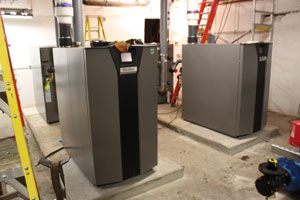New boilers in the Northbank Center will save thousands in energy costs.
