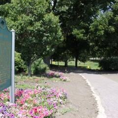 New entrance into Willson Park