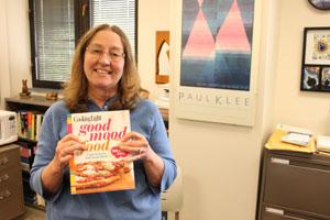 "Krista Hansen donated copies of the cookbook ""Good Mood Food."""