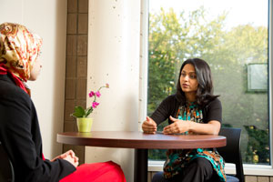 Rushika Patel, PhD, is director of the Women's Educational Center and interim director of the Intercultural Center.