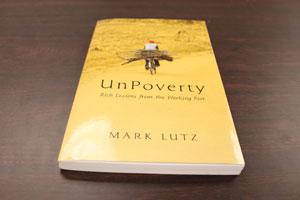 "Brian Blume donated the book ""Unpoverty."""