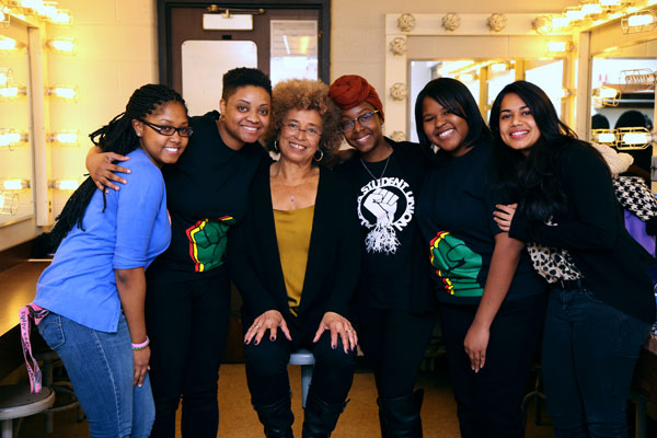 Angela Davis met with UM-Flint students when she visited campus last February.