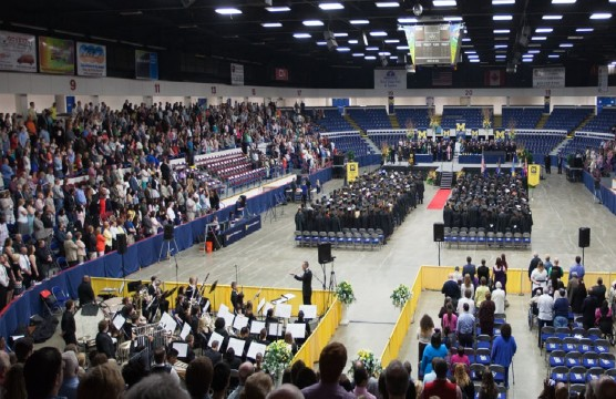 2015 UM-Flint Commencement ceremony.