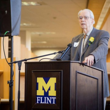 UM-Flint faculty member Dr. Donald DeGraaf