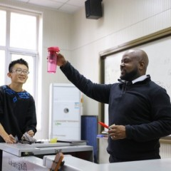 UM-Flint Education Alumnus Gerrard Allen teaches 9th Grade English in China.