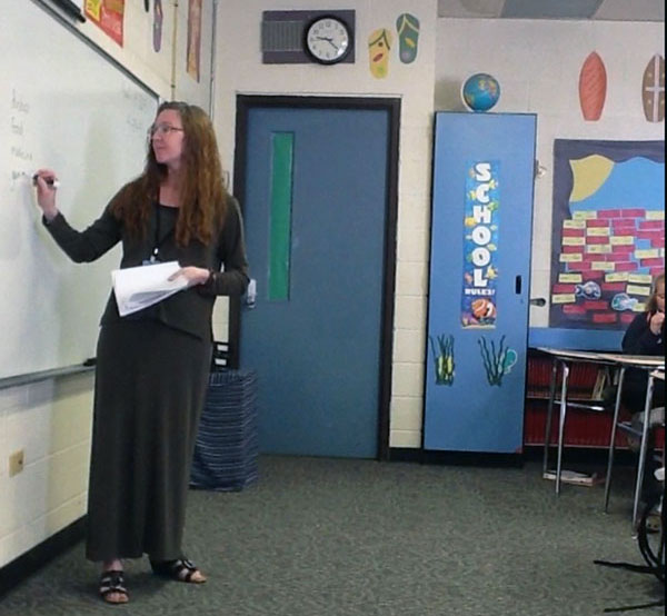 Kristine Eaton Kramer, '91 UM-Flint Education Department Alumna and teacher at Wolverine Community Schools, enjoys teaching middle school grades.