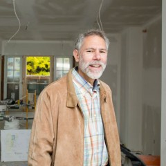 Martin Kaufman, PhD at UM-Flint's Urban Alternatives House during its renovation.