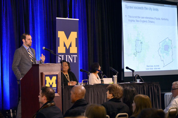 Richard Sadler, PhD, assistant professor of Family Medicine at Michigan State University and a UM-Flint alumnus, shared insights from a historic, geographic, and public health perspective.
