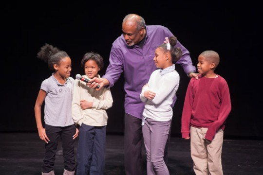 Christopher Paul Curtis inspires Flint 4th graders.
