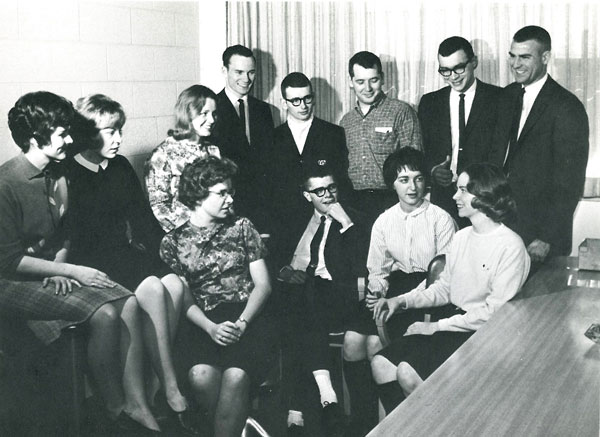1964 Student Government Council. William Shedd is third from right, back row.