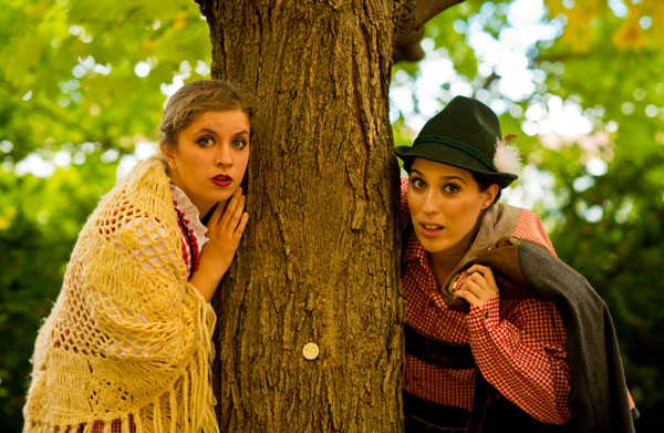 Gretel (Marada Dahl) and Hansel (Miranda Mooney)