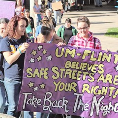 UM-Flint's annual Take Back the Night march